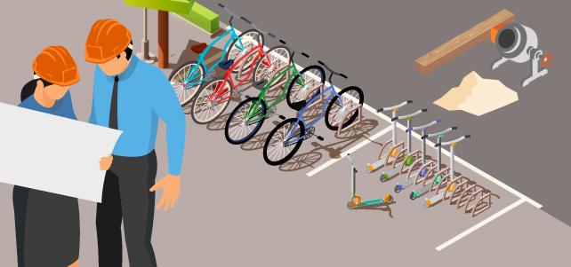 Solució per protegir bicicletes i patinets de la pluja