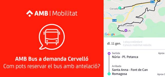 Bus a demanda per alumnes de la zona sud (matins)